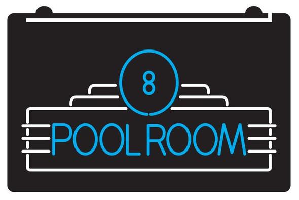 2 Color Custom Pool Room LED Sign (A)