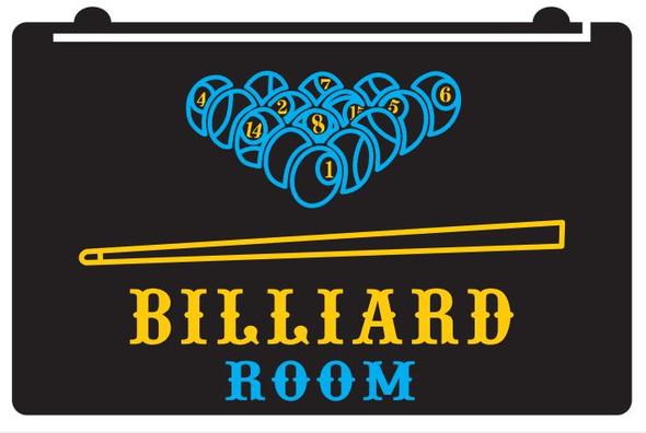 2 Color Billiards Room LED Sign
