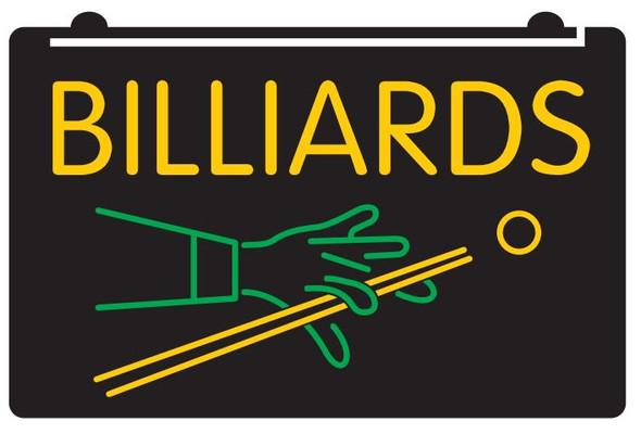 2 Color Custom Billiards Acrylic LED Sign