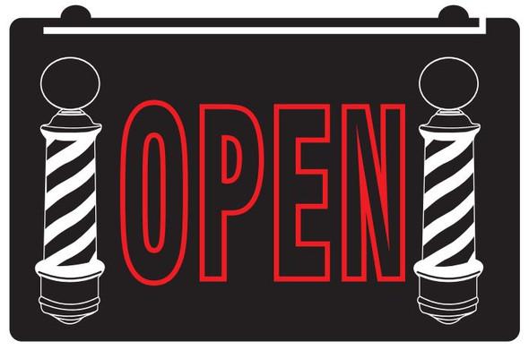 2 Color Barber Shop OPEN LED Sign