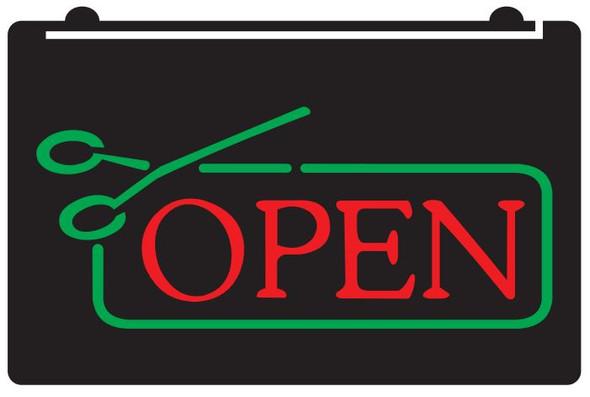 2 Color Barber Shop OPEN LED Sign (C)