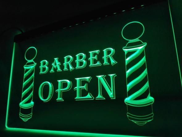 Barber Shop Open LED Sign