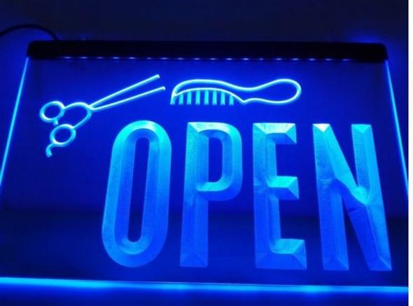 Barber Shop Open LED Sign (A)