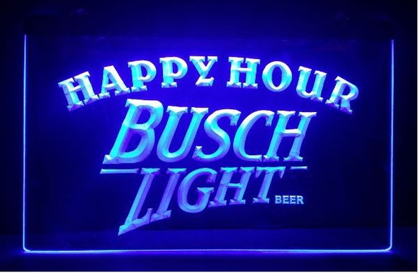Busch Light Happy Hour LED Sign