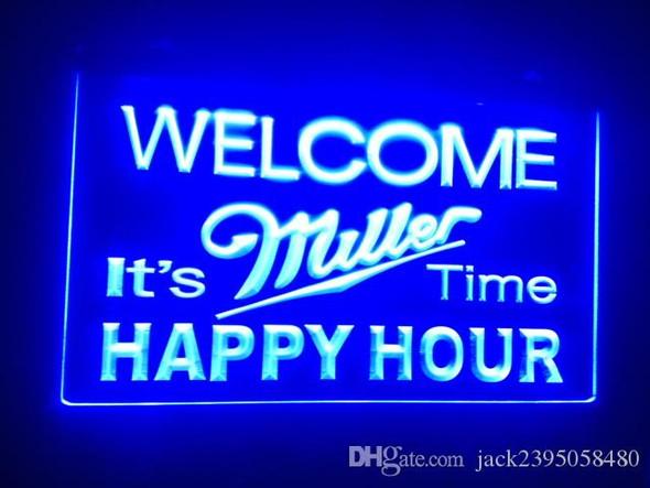 Miller Time Happy Hour LED Sign