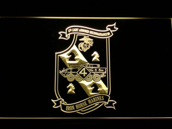 US Marine Corps 4th Light Armored Recon Battalion LED Sign