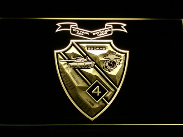 US Marine Corps 4th Tank Battalion LED Sign
