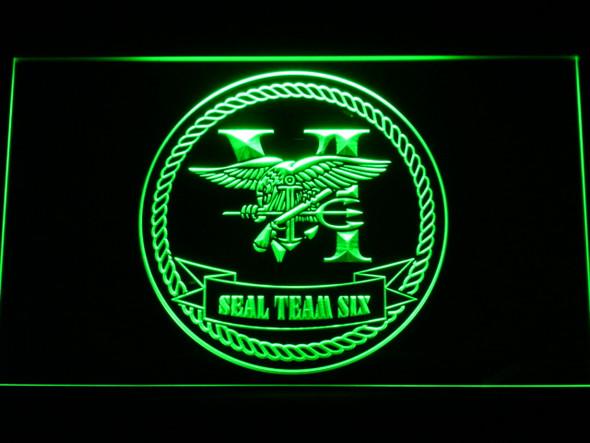 US Navy Seal Team 6 Serif LED Sign