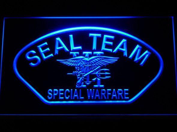 US Navy Seal Team 6 Shell LED Sign