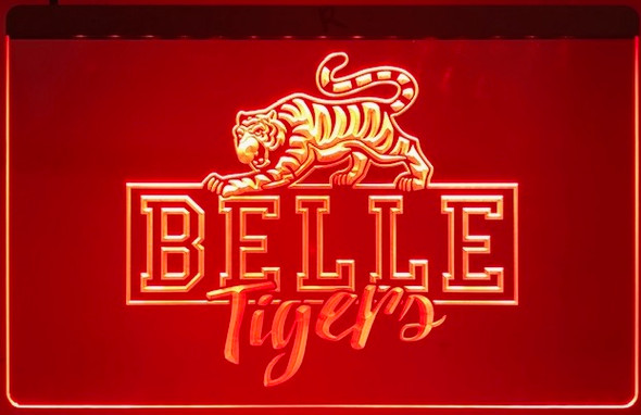 Belle Tigers Acrylic LED Sign