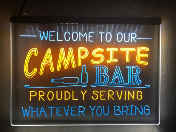 2 Color Campsite Bar Sign