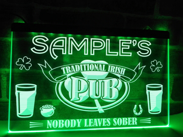 """Welcome to """"YOUR NAME'S"""" Pub LED Sign"""