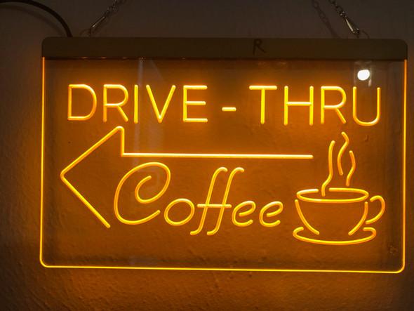 Drive Thru Coffee Custom LED Sign
