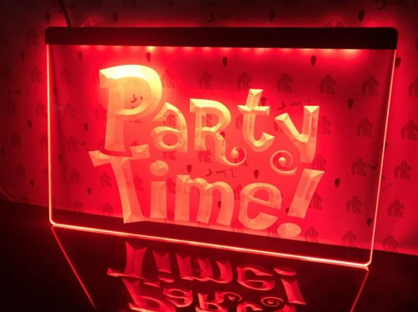 Custom Made Party Time LED Sign
