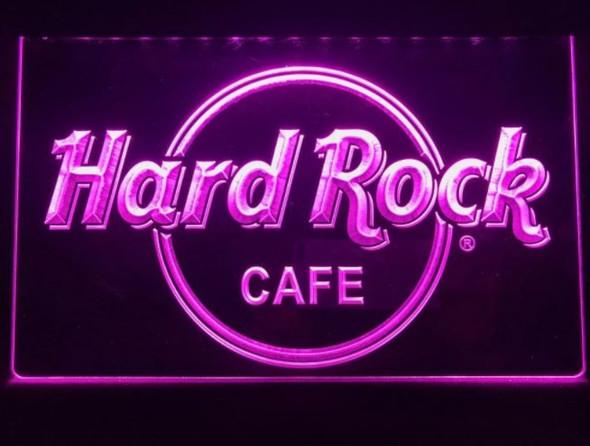 Custom Made Hard Rock Cafe LED Sign