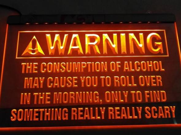 Custom Made Alcohol Warning LED Sign