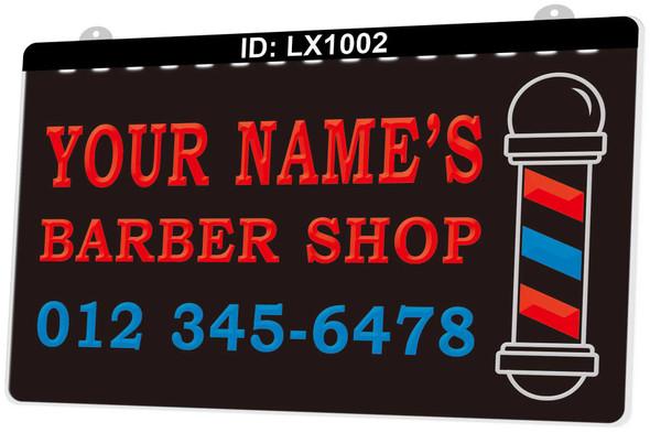 3 Color Custom Barber Shop UV LED Sign