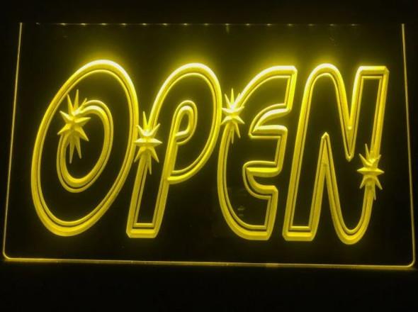 Custom Made Open LED Sign