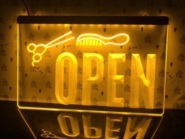 Custom Made  Salon/Barber Open LED Sign