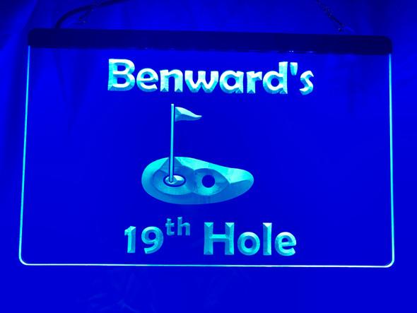 19th hole led sign