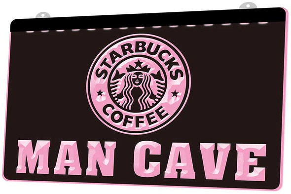 Custom Made Star Bucks Coffee Man Cave LED Sign