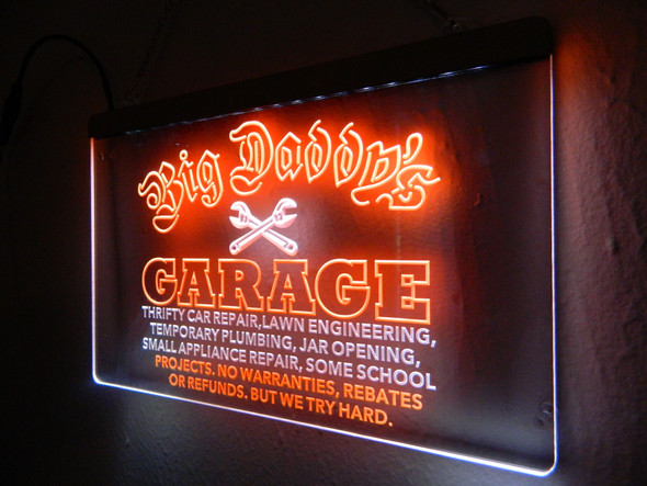 "2 Color ""YOUR NAME"" Garage LED Sign"