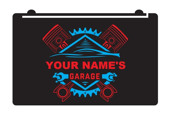 "2 Color Custom ""YOUR NAME"" Garage LED Sign"