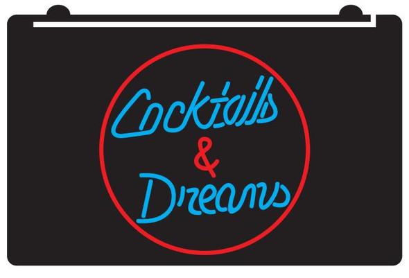 Custom  2 Color Cocktails & Dreams LED Sign