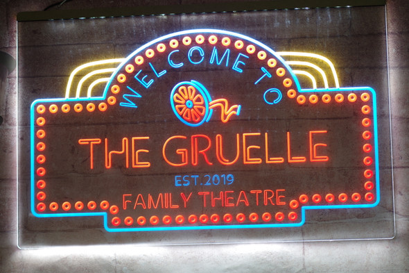 2 Color Home Theatre LED Sign