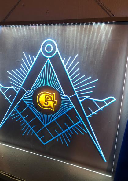 Custom Made Masonic Emblem Acrylic LED Sign