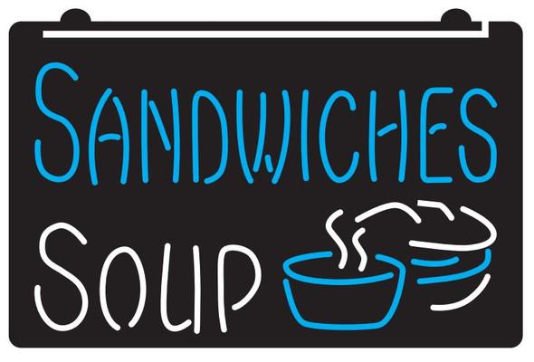 2  Color Sandwiches & Soup LED Sign