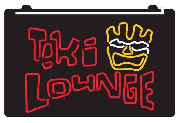 3 Color Custom TIKI Lounge Acrylic LED Sign