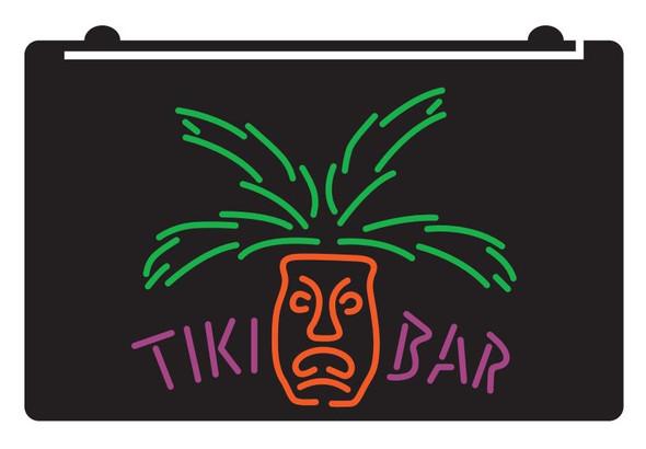 3 Color Custom TIKI Palm Face Acrylic LED Sign