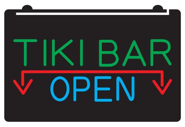 3 Color Custom TIKI Bar Open Acrylic LED Sign