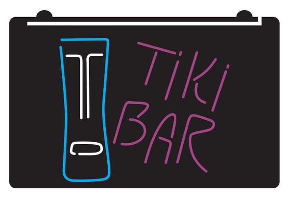 3 Color Custom TIKI Bar Face Acrylic LED Sign