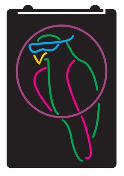 5 Color Custom Tiki Parrot LED Sign