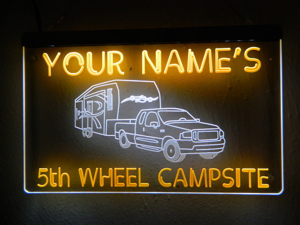 """2 Color Custom """"YOUR NAME""""S"""" Bar & Campsite  Acrylic LED Sign"""