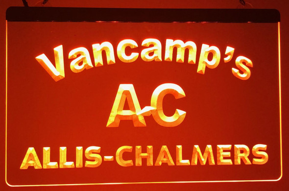 """""""Your Name"""" Custom Allis-Chalmers  Acrylic LED Sign"""