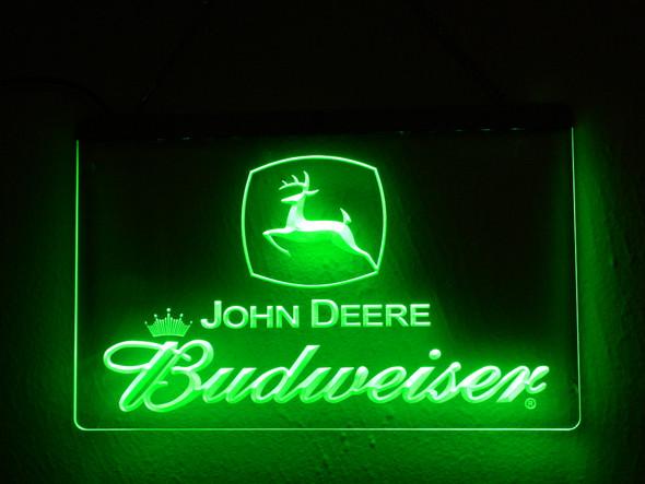 Custom John Deere  & Any Beer/Liquor Logo Acrylic LED Sign