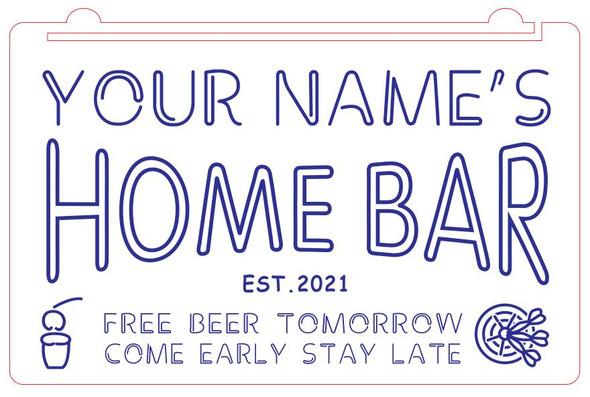 Home Bar Acrylic LED Sign