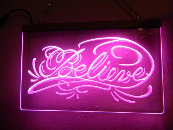 Believe Acrylic LED Sign