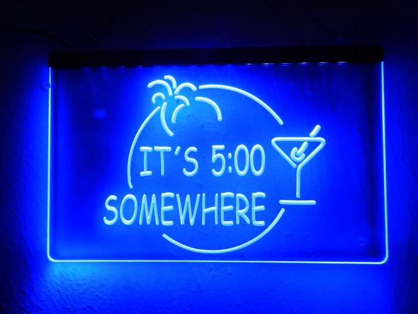 It's 5 O'clock Somewhere Acrylic LED Sign