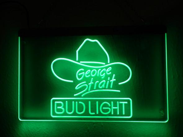 George Strait Bud Light Acrylic LED Sign