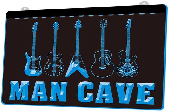 Guitar Man Cave Acrylic LED Sign