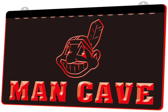 Cleveland Indians Man Cave Acrylic LED Sign