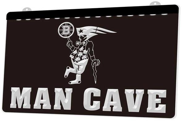Patriots, Celtics, Bruins & Red Sox Man Cave Acrylic LED Sign