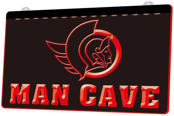 Ottawa Senators Man Cave Acrylic LED Sign