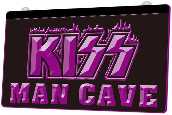 KISS Man Cave Acrylic LED Sign