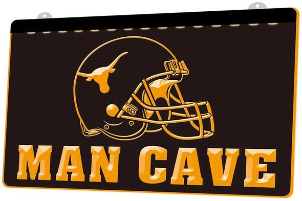 University of Texas Man Cave Acrylic LED Sign