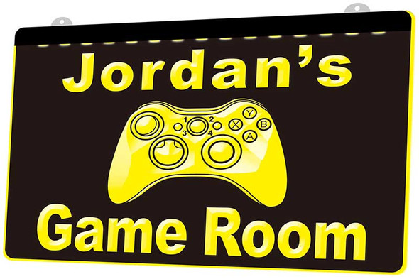 """""""YOUR NAME'S"""" Game Room Acrylic LED Sign"""
